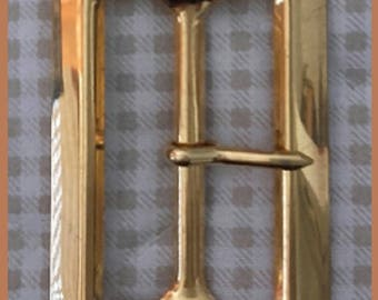 RECTANGULAR gold Metal belt buckle - L x H 5.5 cm 3.cm-