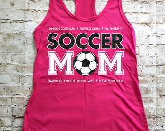 Personalized Soccer MOM Tank Top