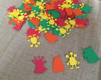 100 Piece Monster Confetti, Monster Party, Monster Birthday, Little Monster Confetti, Birthday Confetti