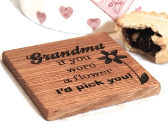 Mum I'd Pick You Coaster - Gift for Mum - Gift For Her - Wood Coaster - Personalised Gifts - Wine Coaster - Mum Gift - Nanny Gift - Grandma