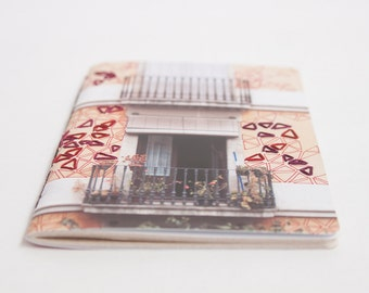 Embroidered City Notebook. Barcelona, Spain