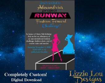 Custom Project Runway Invitation