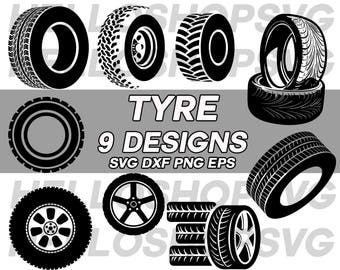 car tyre svg, tire svg, wheel svg, mechanic svg, clipart, decal, stencil, silhouette, cut file, iron on, eps, png, iron on