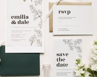 Floral Illustration Wedding Suite 'La Belle Aurore'