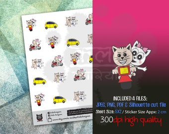 Munchkins - SONA -  Bike Riding, Driving, Loves, Walking, Traveling -  Planner Stickers (M-9) 50% off