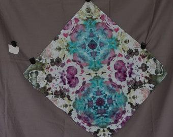 Handmade Ice Dye Bandana 1