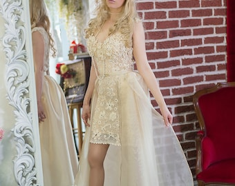 2 in 1 wedding dress | Etsy