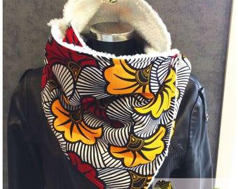 Snood neck wax fabric and fleece No.16