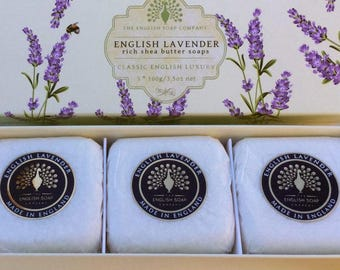 Lavender 3 x 100g Gift Boxed Hand Soaps
