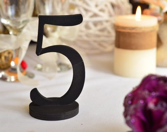DIY wooden freestanding Table Numbers,  DIY / Painted /  Glittered wedding kit table decoration for wedding