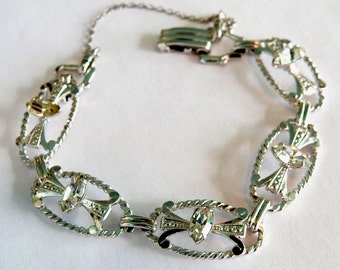 AMCO White Gold Filled Crystal/Rhinestone Bracelet