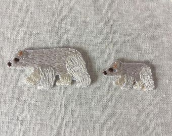 Polar Bears Iron on Patches