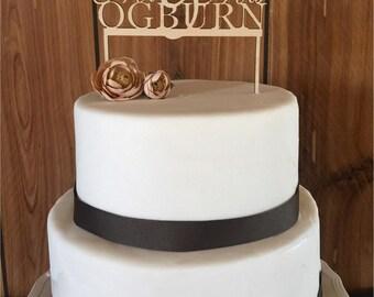 Wooden Custom Cake Topper, Cake Toppers, Mr. Mrs. Cake Topper, Holiday Cake Topper, Birthdays, Wedding