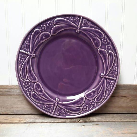 Purple English China Plate Collection of vintage plates for wall decor (set of 8) mismatched tea sets & Purple English China Plate Collection of vintage plates for