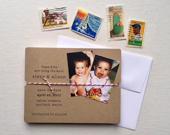 Throwback Save the Date, Handmade Save the Date; Funny Save the Date, These Kids are Tying the Knot Save the Date