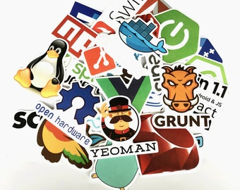 Programmer Stickers Pack (x50) - Vinyl Decals - JS Sticker - Bitcoin Sticker  -
