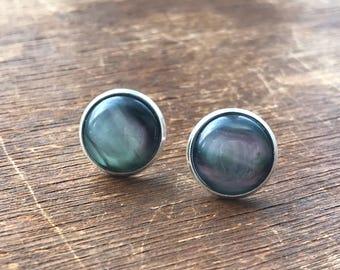 12 mm Mother of Pearl Earrings