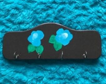 Blue Flower Key Holder
