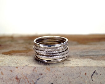 Stacking rings, Stacking ring set, stacking rings silver, Silver stacking ring, Stackable Rings, Rings, Jewelry, Engraved rings