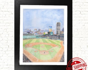 Fenway Park Boston red sox drawing art print red sox gifts red sox poster
