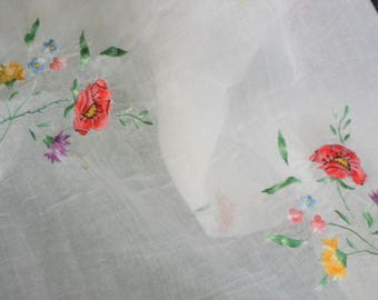 Antique embroidered thread tablecloth