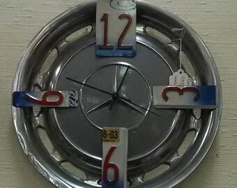 Merceds Benz Hubcap Clock