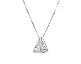Triangle Pendant Sterling Silver - Triangle Charm - Triangle Necklace Pendant - Triangle Jewellery - Triangular Silver Pendant