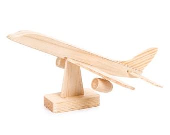 Jumbo jet wood model airplane kit
