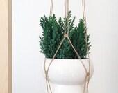 SALE - Natural Macrame Plant Hanger | Handmade by zoé g kocsis