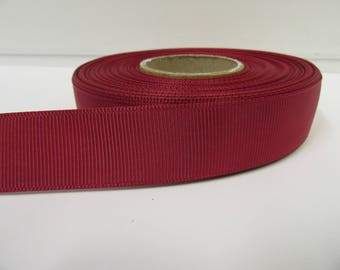 Grosgrain Ribbon 3mm, 6mm 10mm 16mm 22mm 38mm 50mm Rolls, Dark Magenta Pink, 2, 10, 20 or 50 metres, Ribbed Double sided,