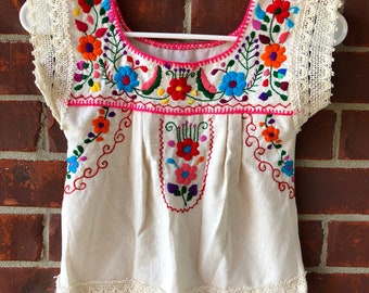Girls 5t handmade embroidery blouse