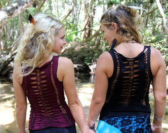 Forgotten Top-weaved top/dance wear/yoga wear/pixie clothing/doof clothing/festival clothing/ tribal