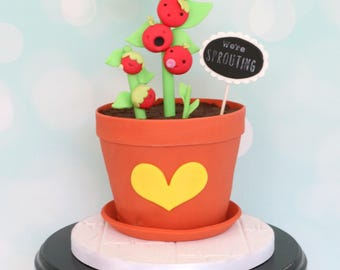 We're Sprouting Cake Tutorial