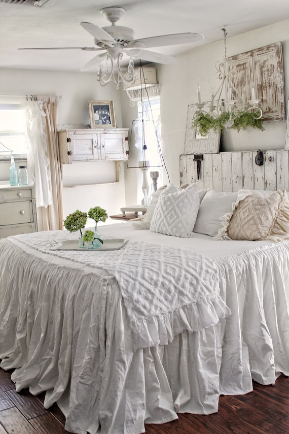 Ruffled Bedspread Shabby Chic Bedding Bed Cover