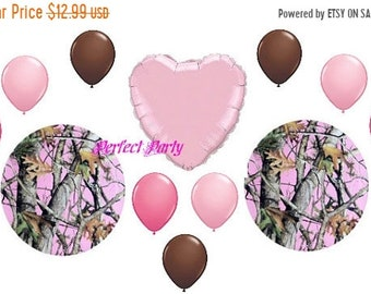 ON SALE 12 pc Pink Next Camo/ Camoflauge   Balloon Bouquet