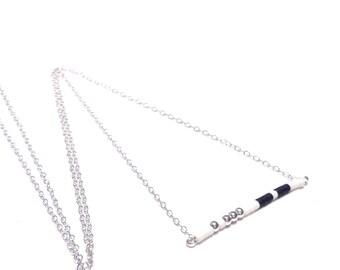 Minimalist Jewelry Modern Necklace Simple necklace  Short Silver Necklace Geometric Necklace