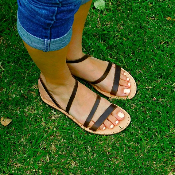 Wedding Beach Summer Greek sandals sandals Leather sandals flats sandals sandals sandals sandals Brown BOHO Comfortable wUXAq0p