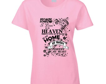 Mother Heaven In My Home Black T Shirt