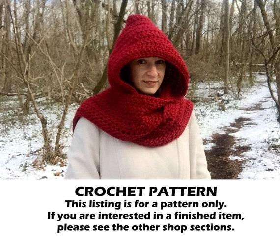 Crochet hooded scarf pattern crochet scoodie pattern crochet