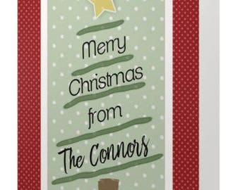 Merry Christmas Tree Christmas Card - Customize!