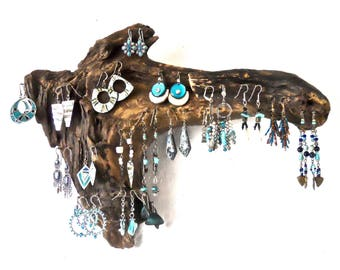 Driftwood Jewelry Organizer, Earring Tree, Earring Hanger, Jewelry Hanger, Jewelry Rack, Rustic Jewelry Display, Driftwood Wall Art