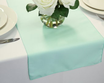 Mint table runner Etsy