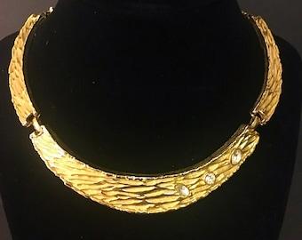 Vintage goldtone rhinestone necklace