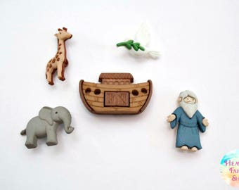 Noah's Ark Button Set