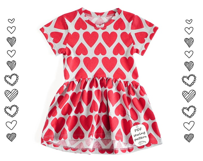 Featured listing image: Girls dress Sewing Pattern PDF, dress pattern from 2 to 10 years