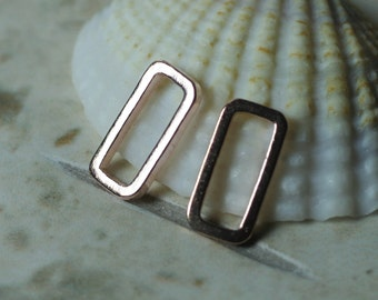Rose gold tone rectangle link connector size 10x5mm, 20 pcs (item ID H1094RG)