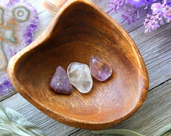ONE Lucid Dreaming Crystal Set Tumbled Ametrine Tumbled Clear Quartz Tumbled Lepidolite Reiki Healing Stones Birthday Gifts For Son Wicca