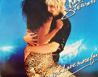 """ROD STEWART """"Blondes Have More Fun"""" 1978 Vintage LP Faces Jeff Beck Maggie May Classic Rock Disco Vinyl Nm, Cover Exc Soccer Train Modeler"""