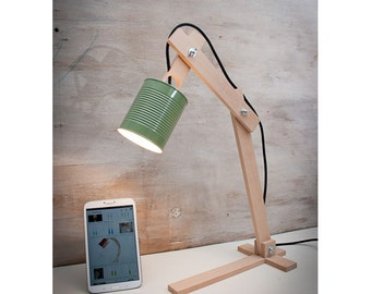 Artculos similares a wood lamp table lamps lamps lighting desk green table lamps lamps lighting desk lamps wood desk lamp lights aloadofball Images