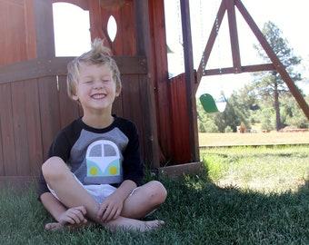 Van Life Shirt, Vintage Bus Raglan, Toddler Clothing, Retro Kids Clothes, Campervan Shirt
